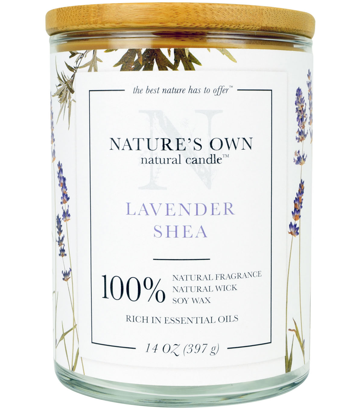 Nature\u0027s Own Natural Candle-Lavender Shea