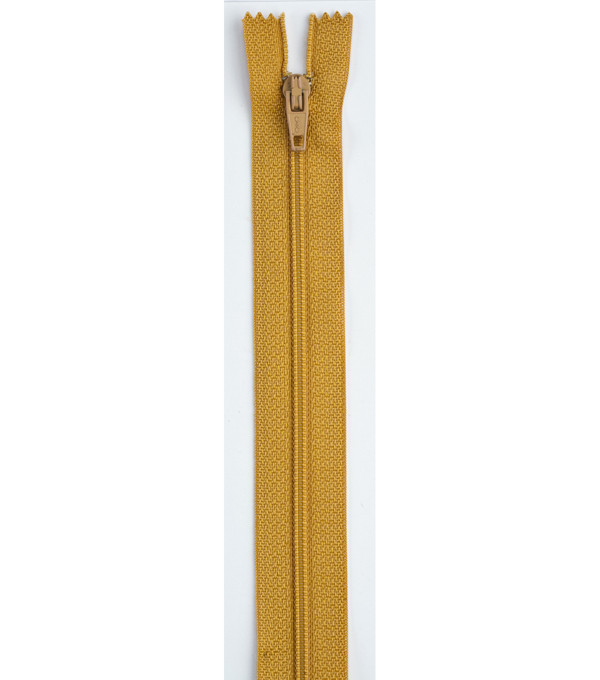 Coats & Clark All-Purpose Plastic Zipper 14\u0022 , Mine Gold