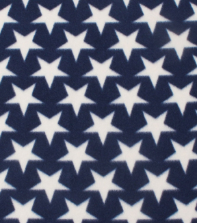 Blizzard Fleece Fabric 59\u0022-Stars On Navy
