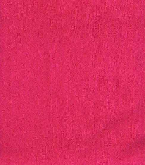Cotton Terry Cloth Fabric-Solids, Hot Pink