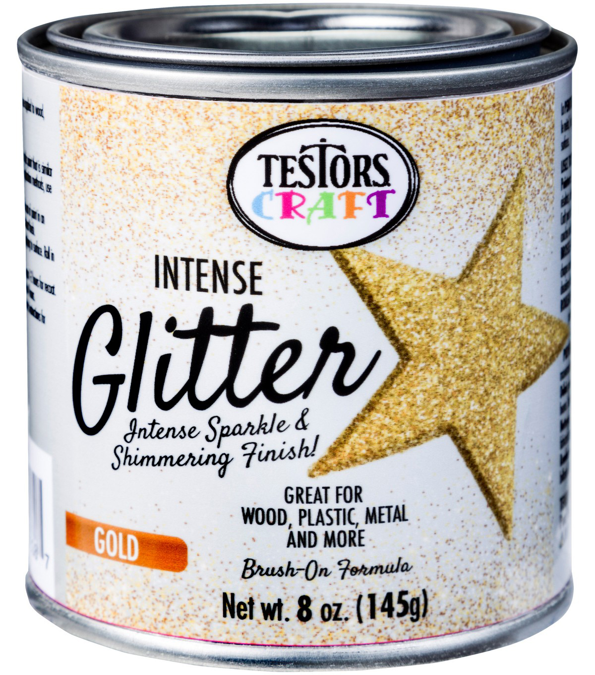 Testors 8 oz  Intense Glitter Paint-Gold