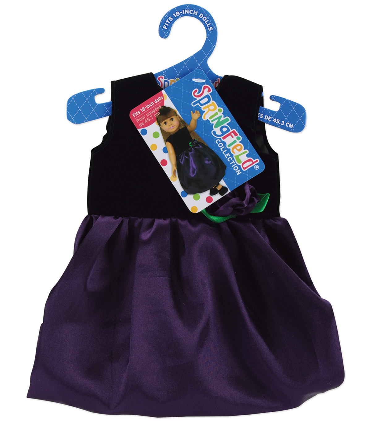 Springfield Boutique Dress-Black Velvet/Purple Satin