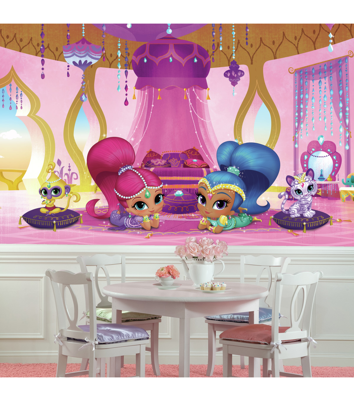York Wallcoverings Prepasted Mural Shimmer Shine Genie Palace Xl