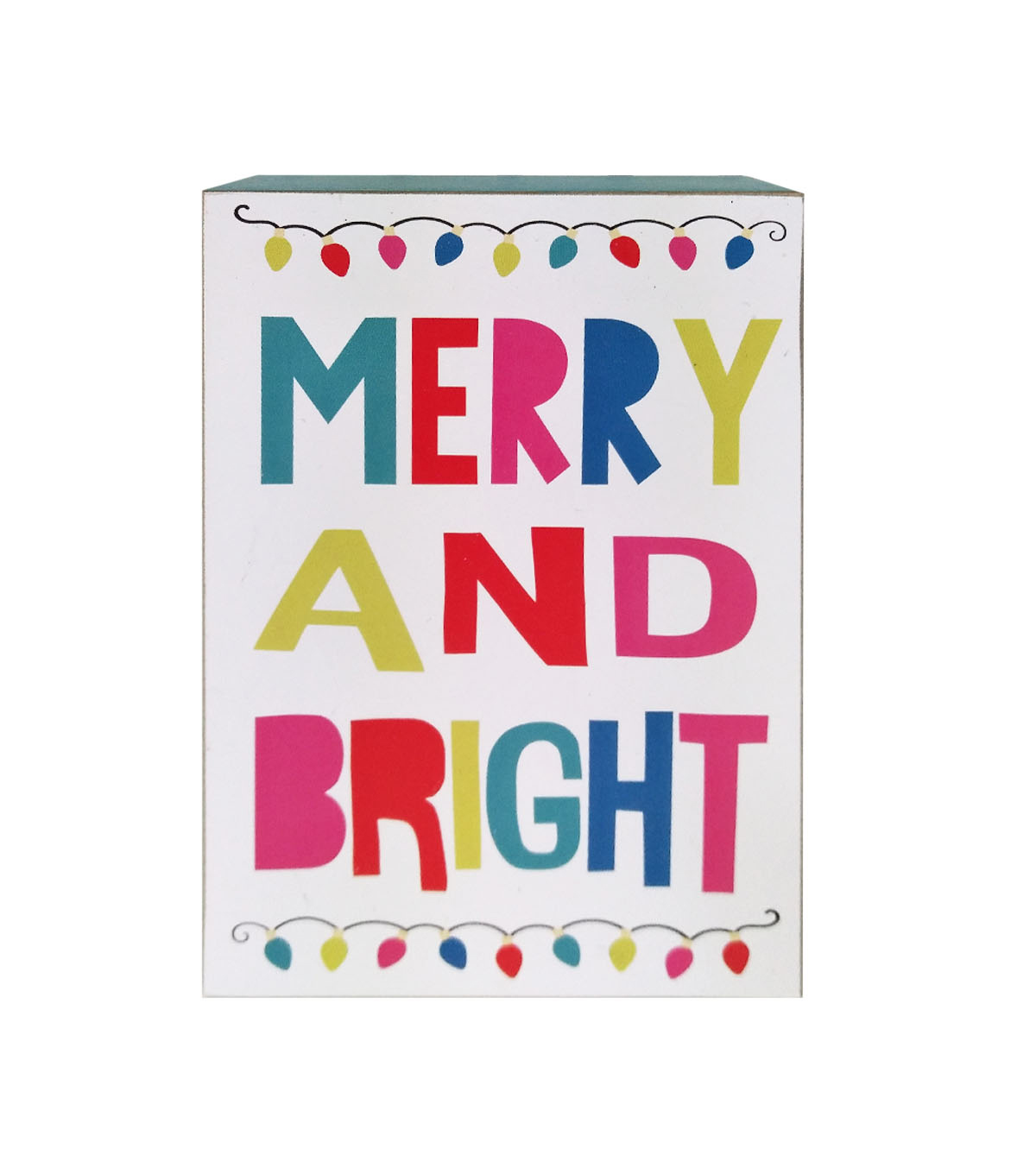 Maker\u0027s Holiday Christmas Ho Ho Ho Decor Tabletop Decor-Merry & Bright
