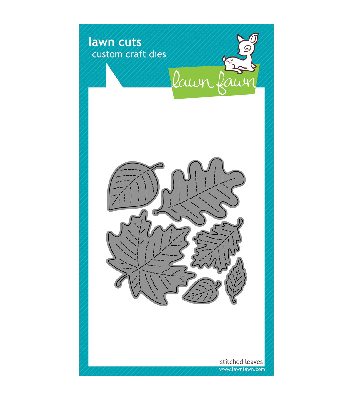 Lawn Fawn Lawn Cuts Custom Craft Die -Stitched Leaves