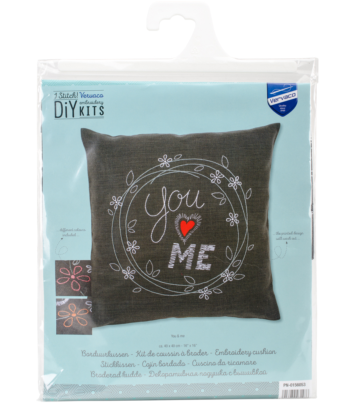 Vervaco 16x16 Cushion Stamped Embroidery Kit You Me Joann