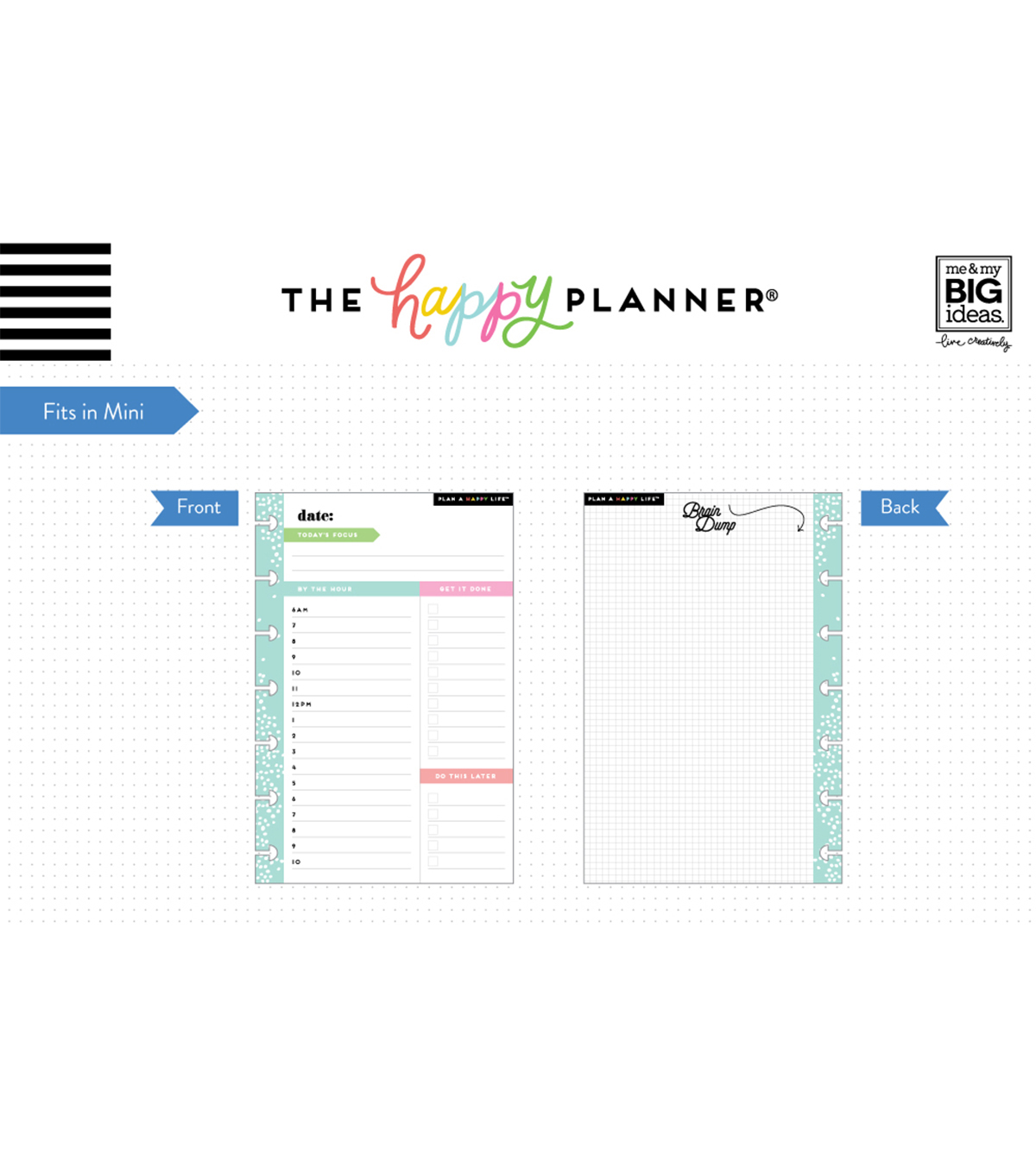 The Happy Planner Mini Daily Fill Paper