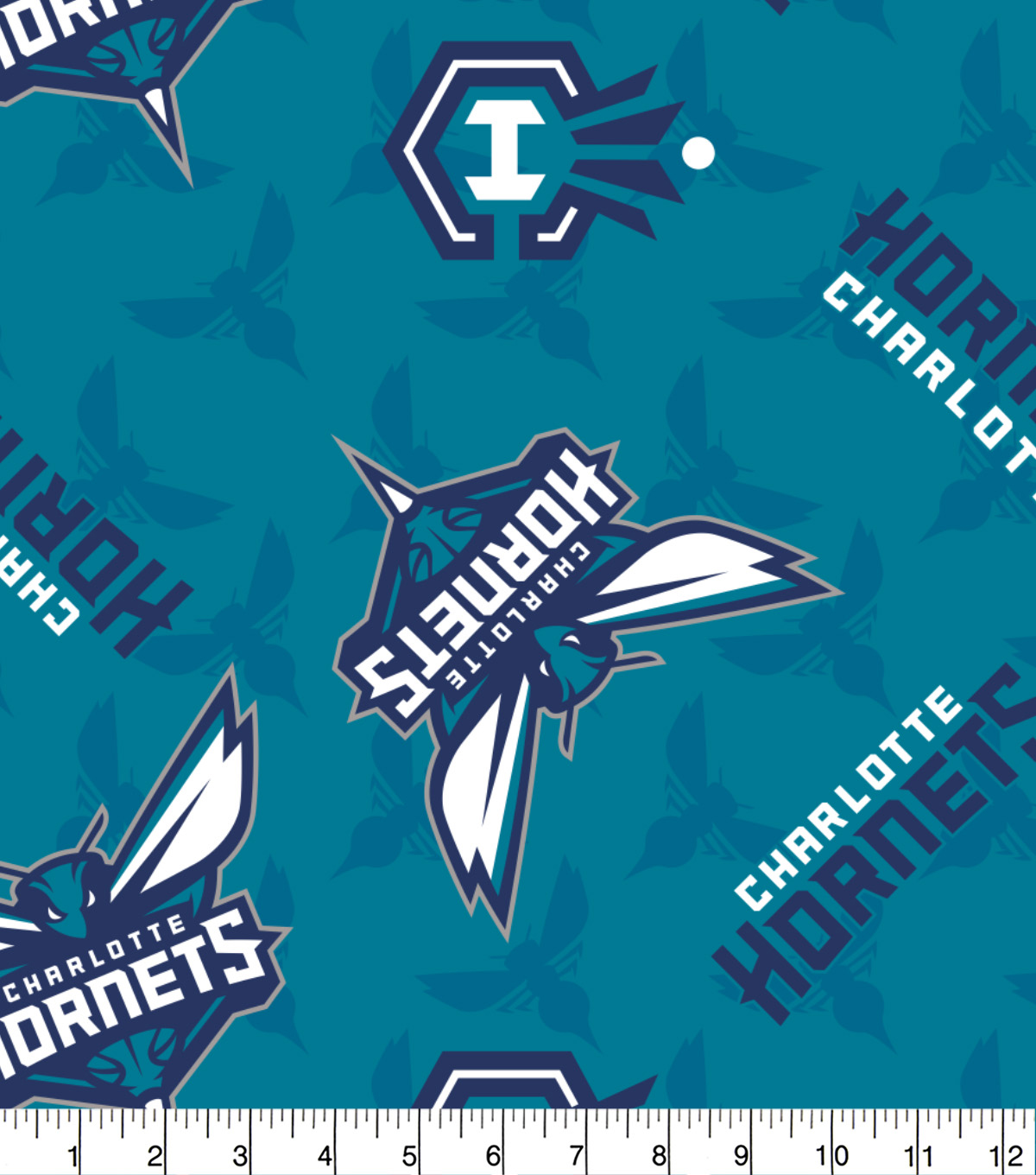 uk availability 2ef87 76dcc Charlotte Hornets Fleece Fabric -Logo Toss