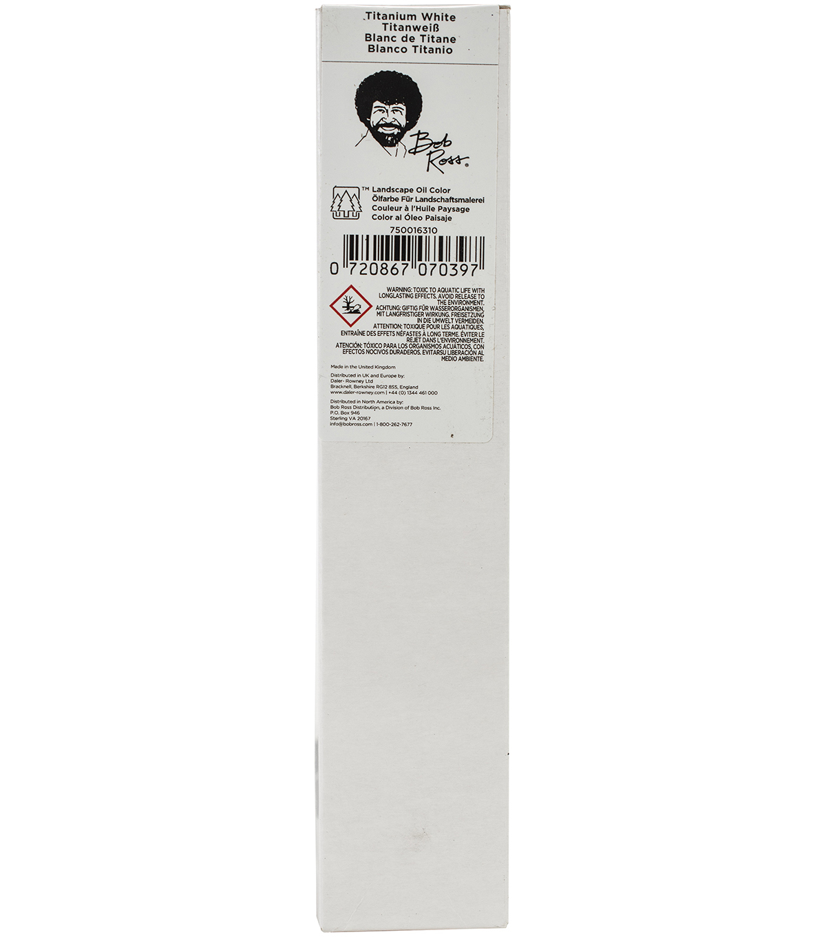 Bob Ross Oil Paint 200ml, Titanium White