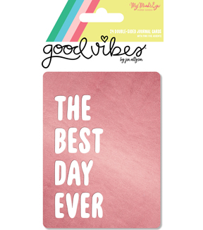 My Mind's Eye Good Vibes 24 pk 3\u0027\u0027x4\u0027\u0027 Double-sided Journal Cards