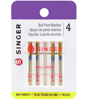 Singer Ball Point Machine Needles 4/Pk-Size 14/90