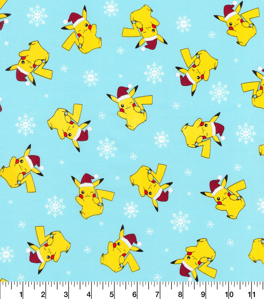 Christmas Pokemon Cotton Fabric-Jolly Pikachu