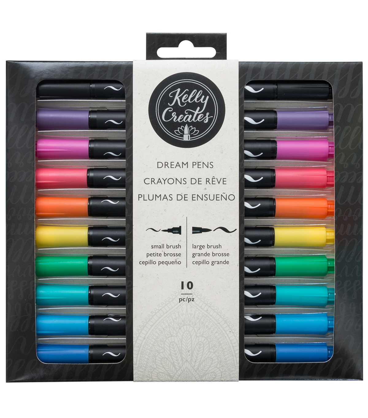 Kelly Creates 10 pk Dream Pens-Rainbow