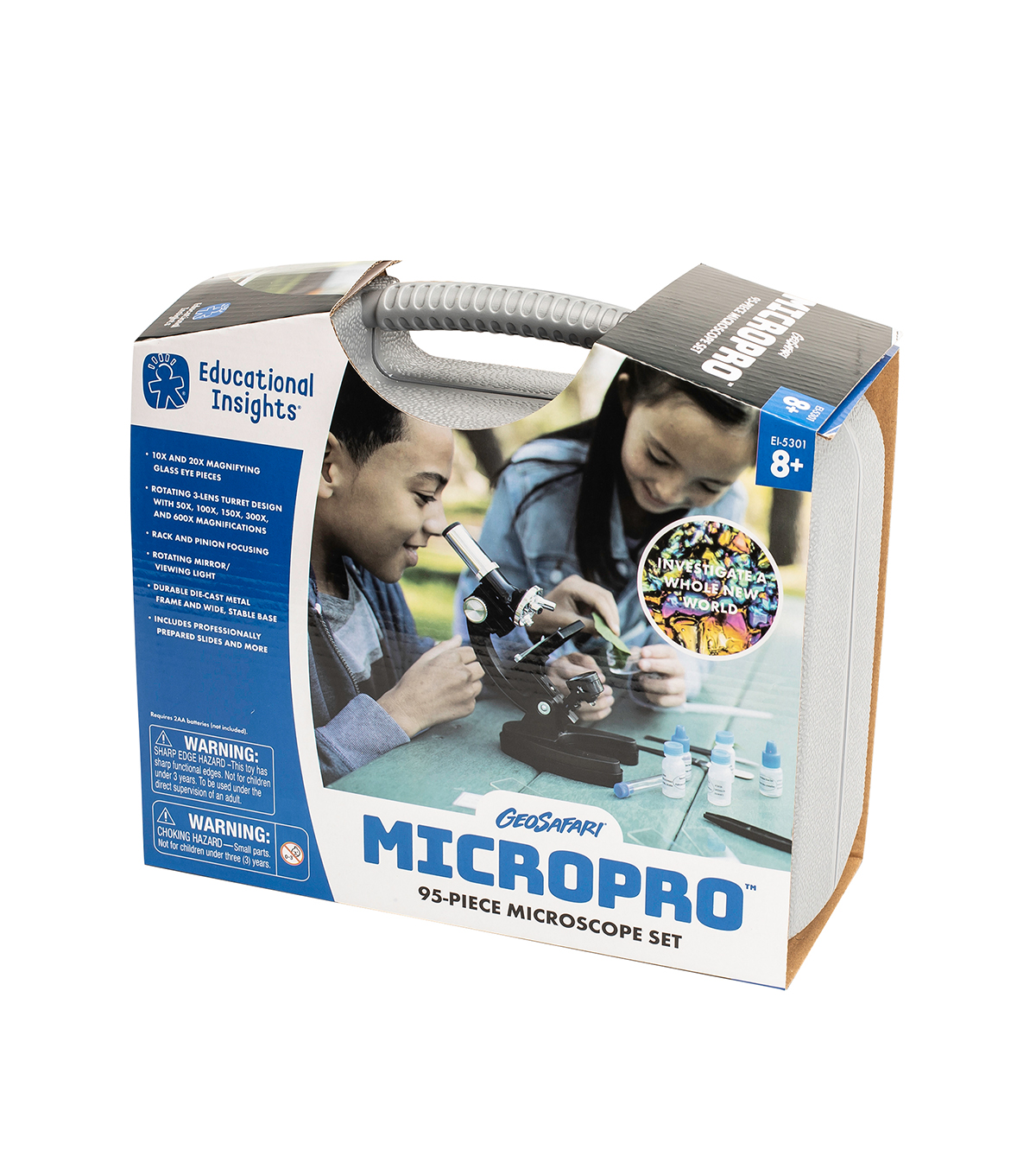Educational Insights GeoVision MicroPro 48 Pc Microscope Set