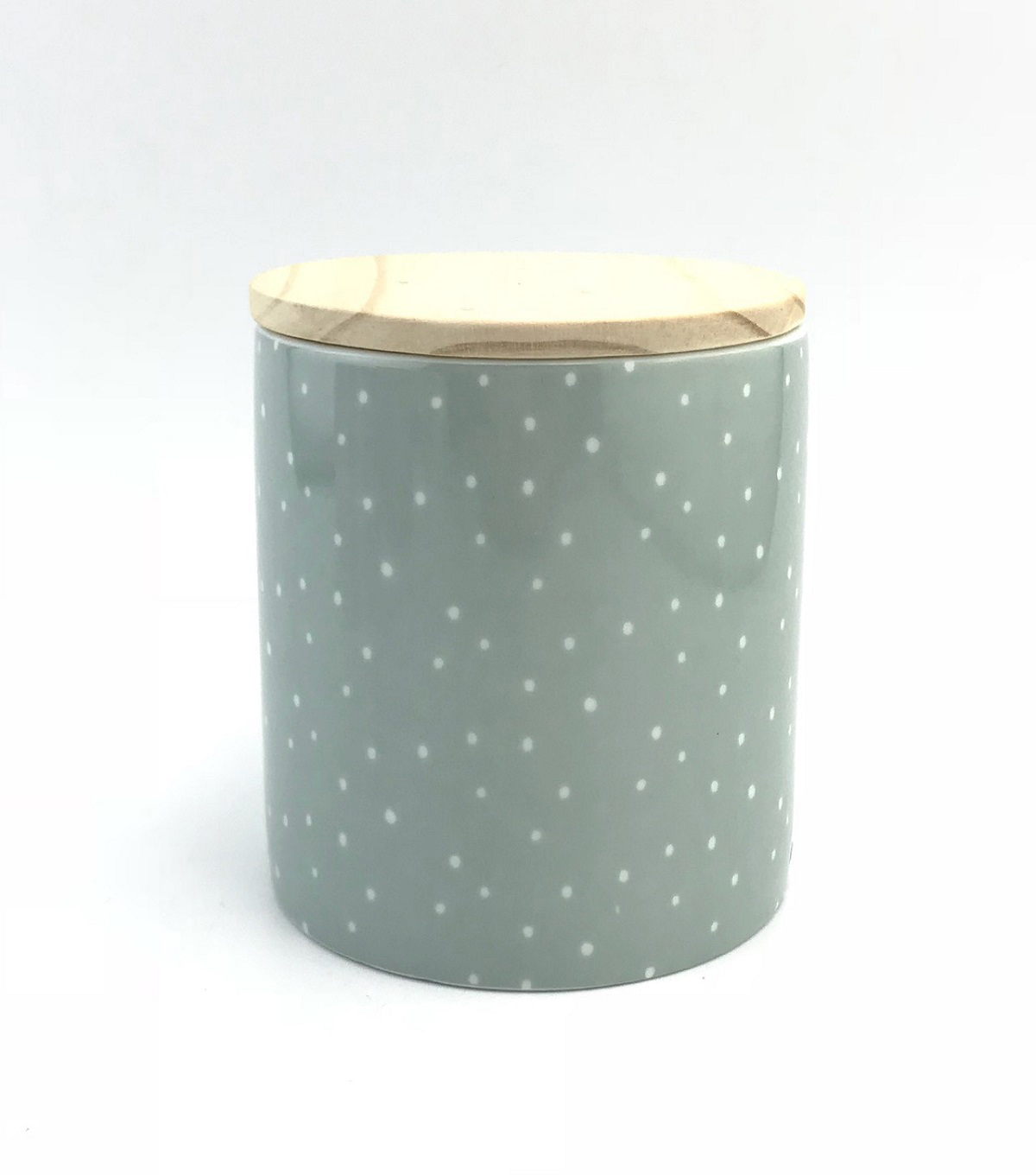 Simply Spring 15 oz. Jar Candle with Lid-Dots on Green