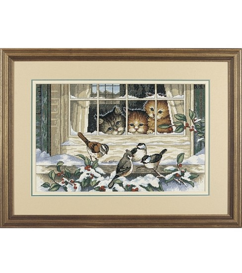 Dimensions Cntd Cross Stitch Kit-Three Bird Watchers
