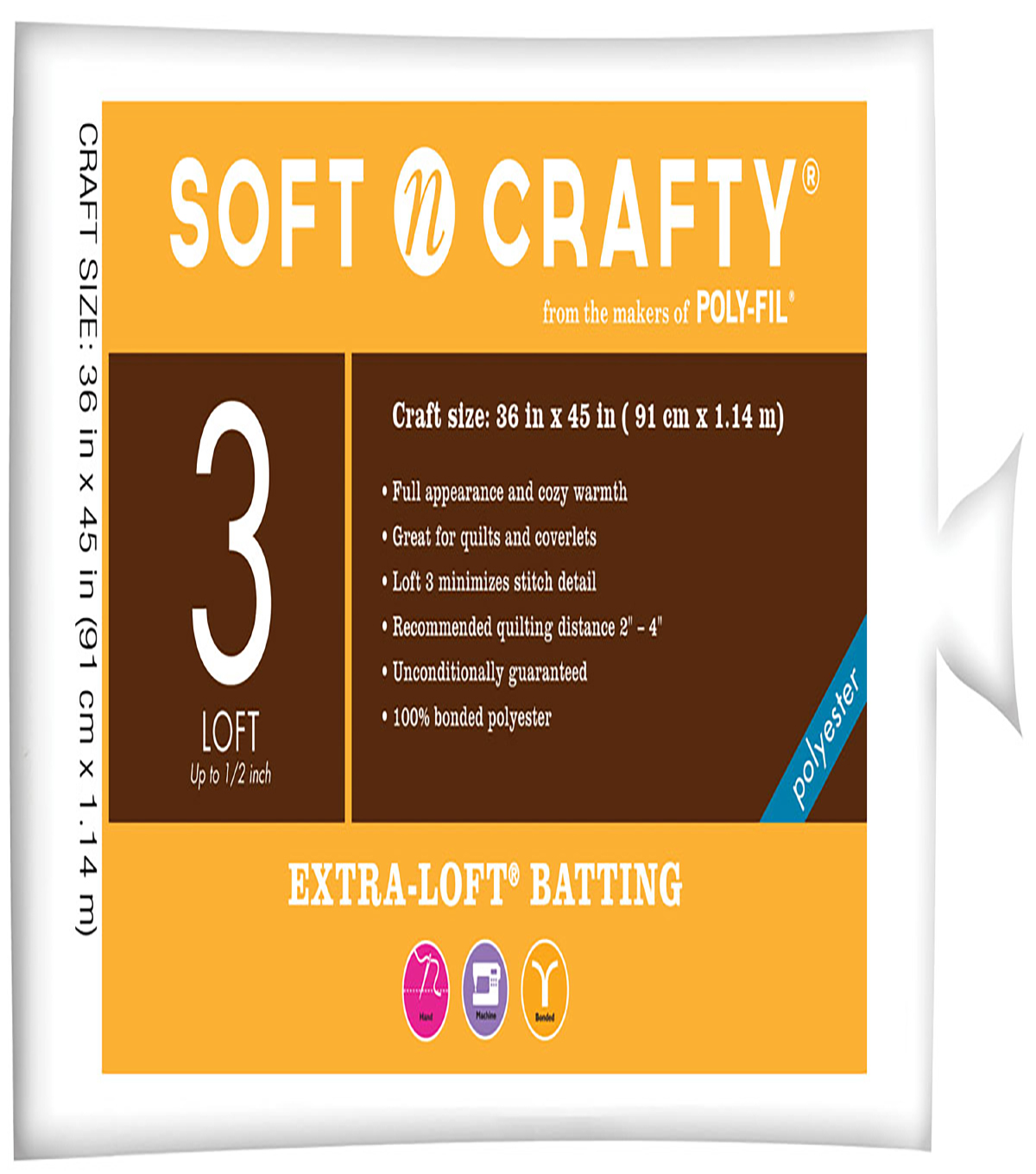 Soft n Crafty  Extra-Loft Batting 36\u0022x45\u0022