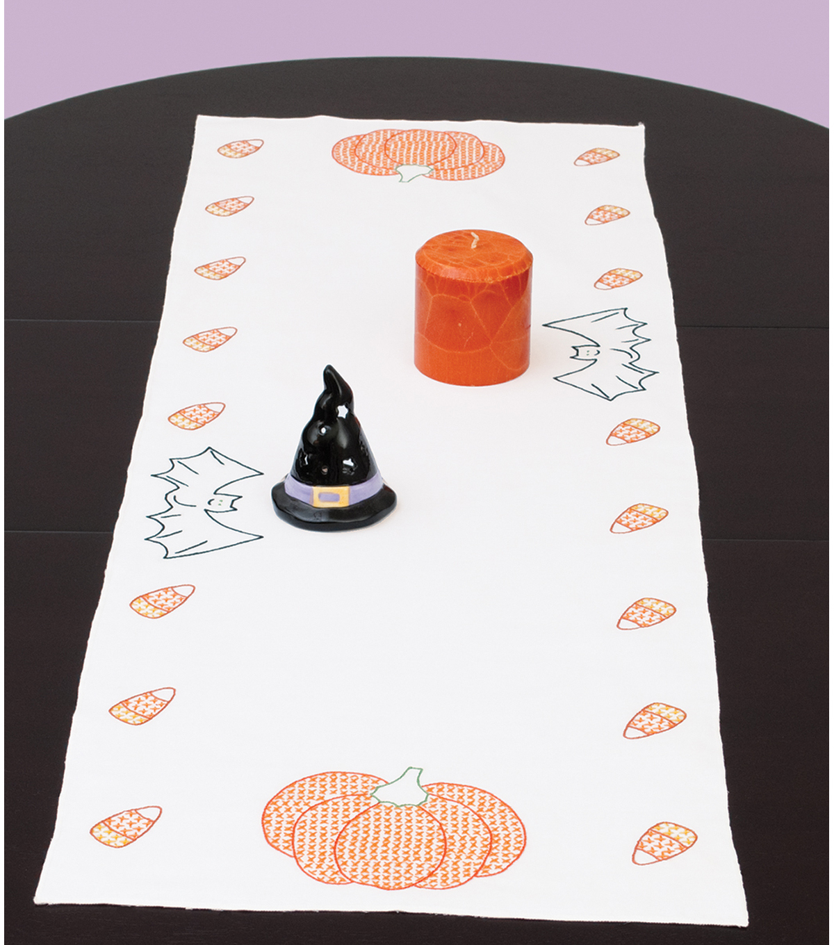 Jack Dempsey Stamped Table Runner/Scarf Halloween