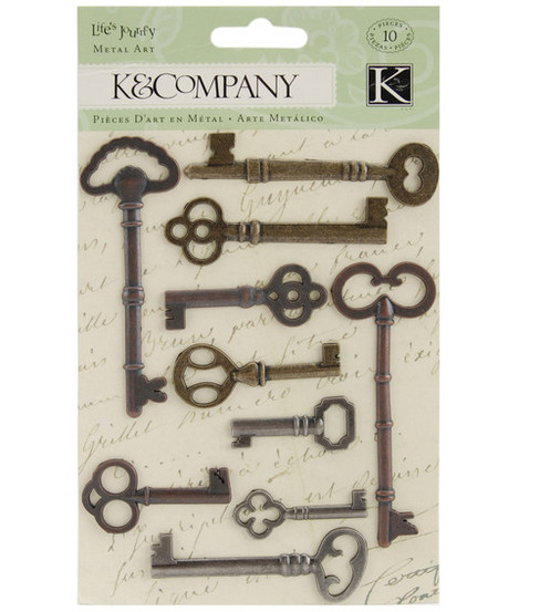K & Company Life\u0027s Journey Metal Art-Keys
