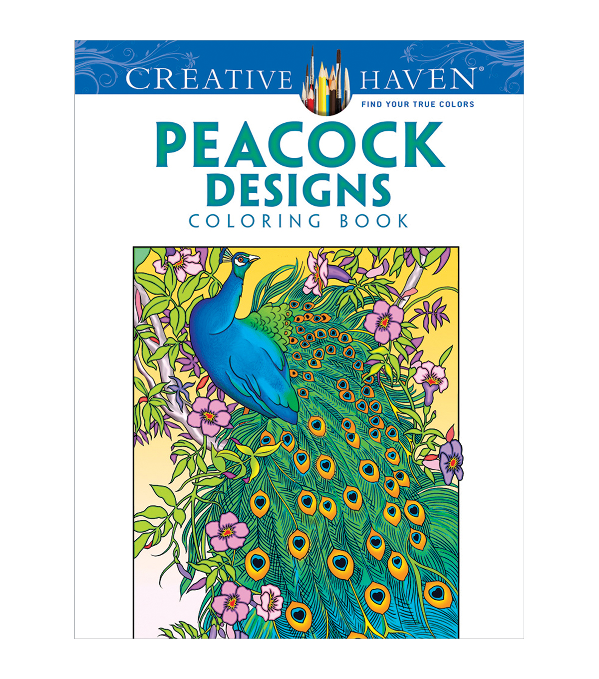 Adult Coloring Book Creative Haven Peacock Designs