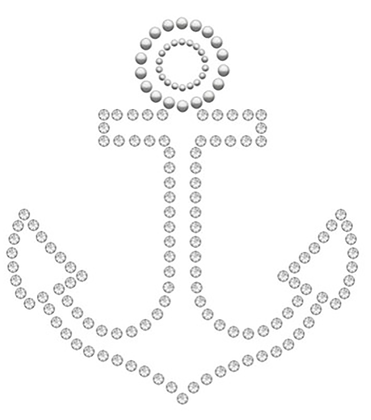 Swarovski Create Your Style Anchor Crystals Iron-on Transfer