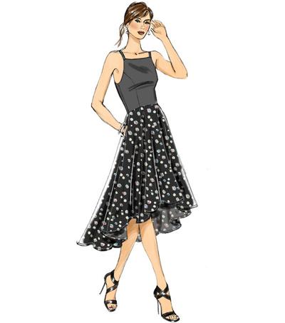 Vogue Pattern V40 Misses' Princess Seam HighLow DressesSize 4040 Mesmerizing Princess Seam Dress Pattern