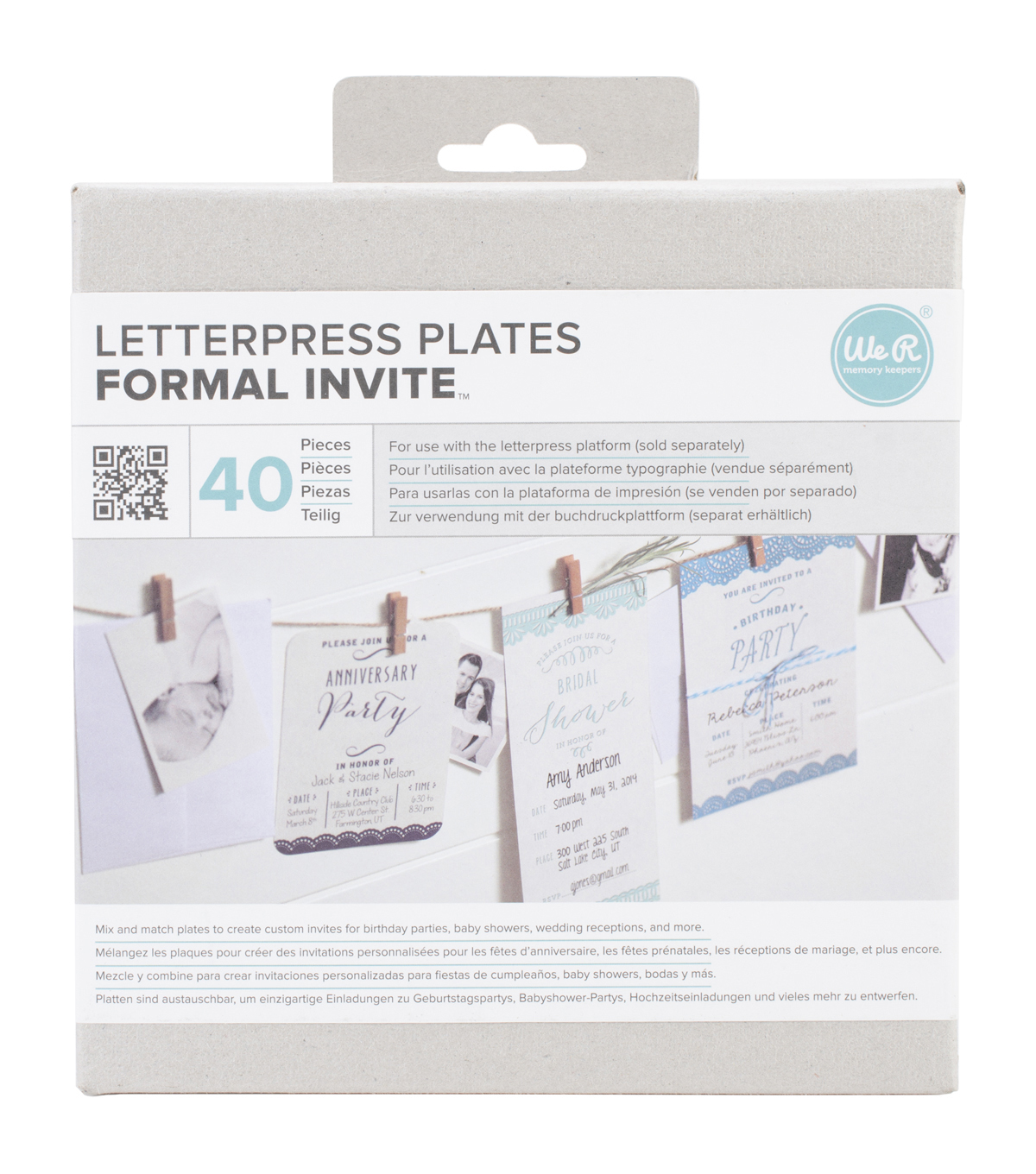 Lifestyle Letterpress Plates-Formal Invite