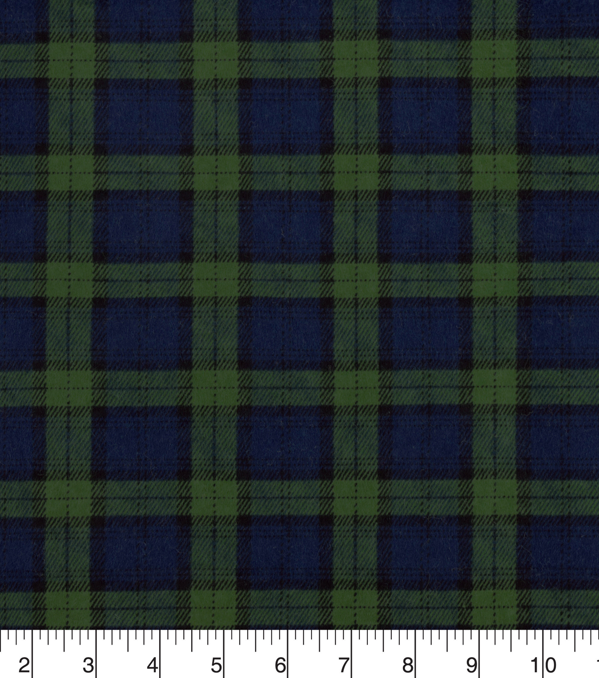 Snuggle Flannel Fabric -Black Watch Plaid