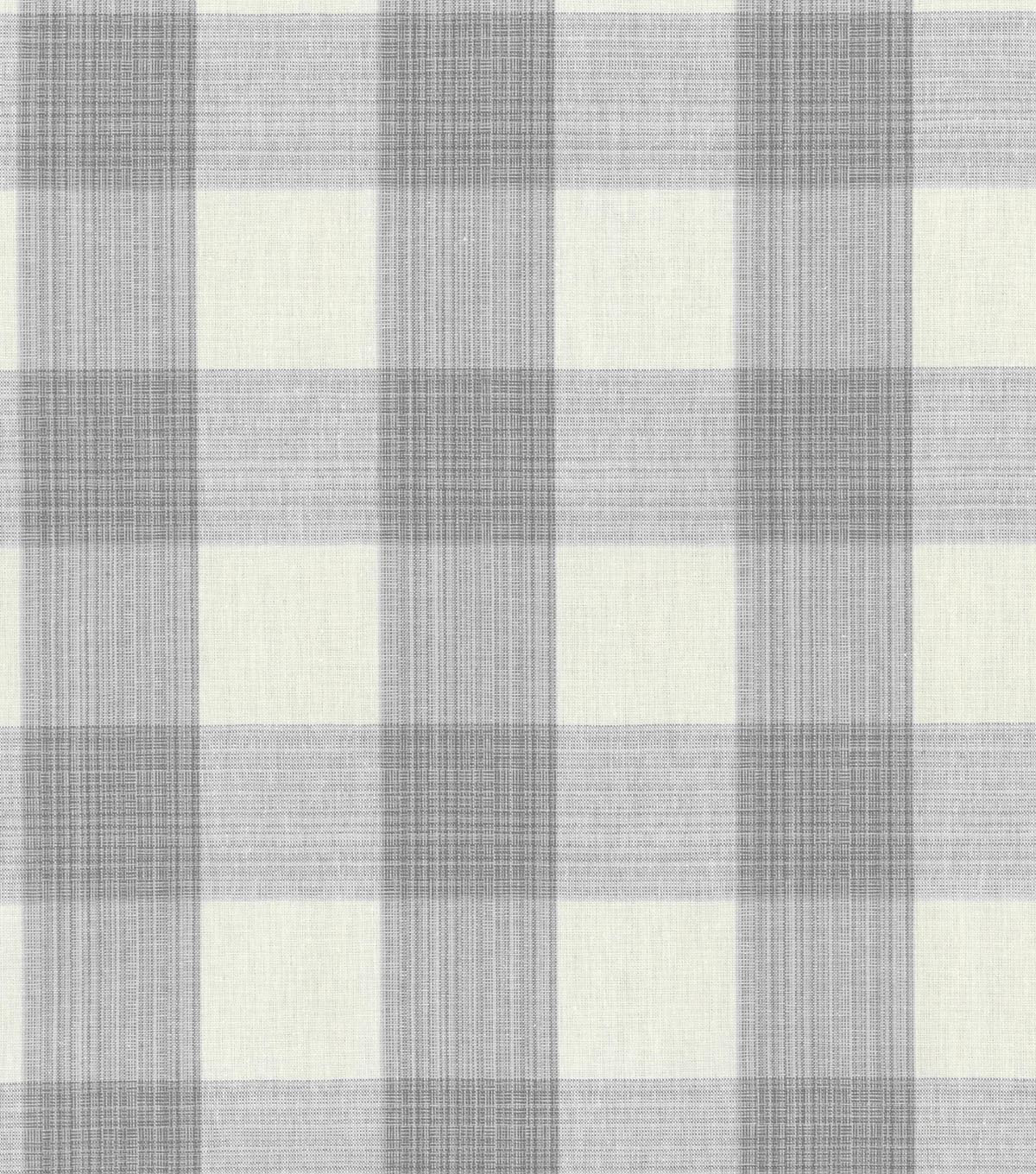 Home Decor 8\u0022x8\u0022 Swatch Fabric-Williamsburg Stratford Check Smoke