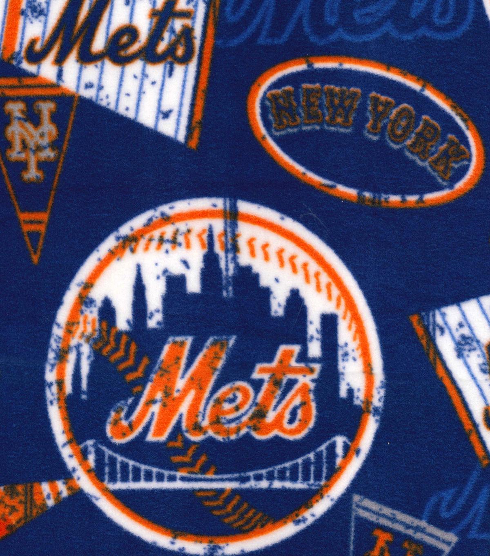 . New York Mets Fleece Fabric Vintage