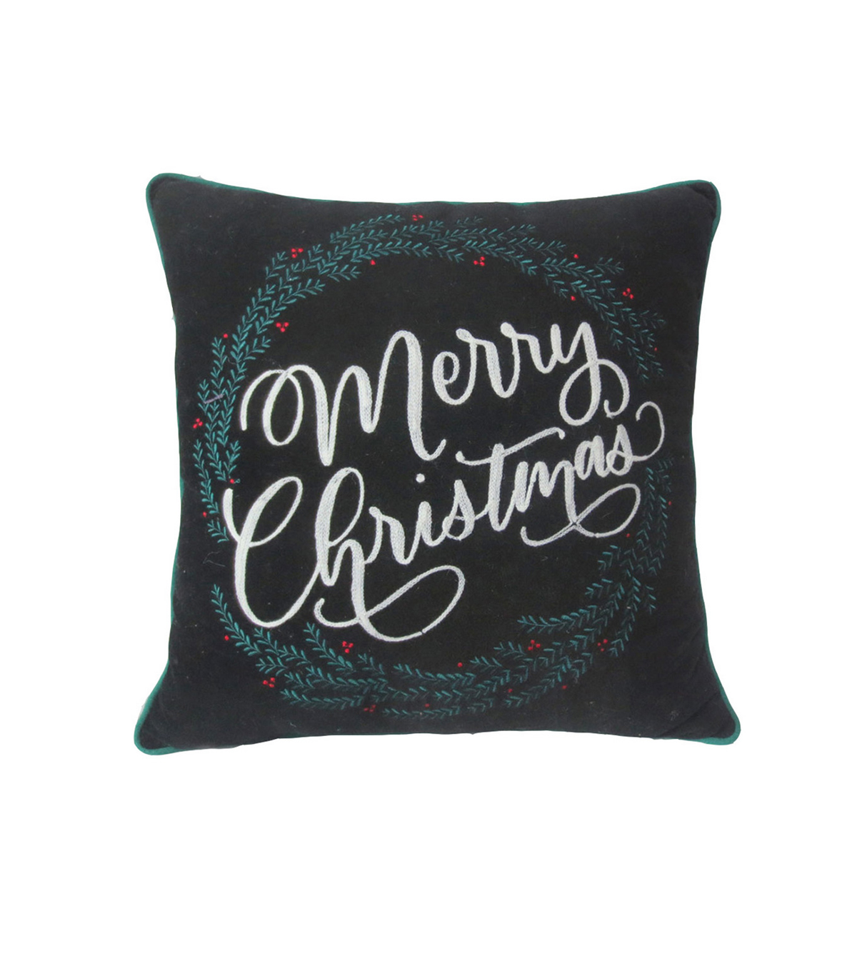 Maker\u0027s Holiday Christmas Pillow-Merry Christmas on Black
