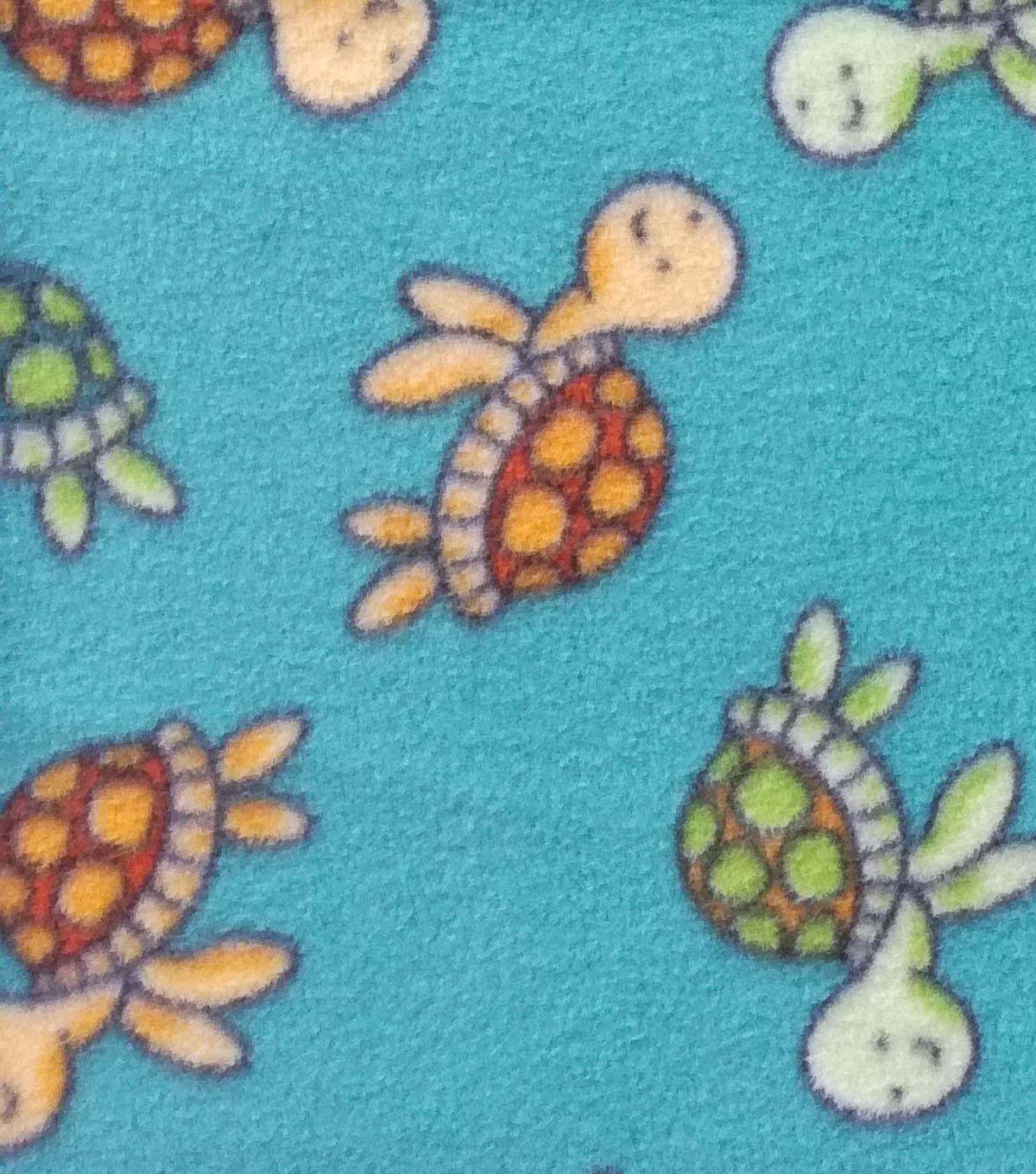 Anti-Pill Fleece Fabric 59\u0022-Happiest Turtles