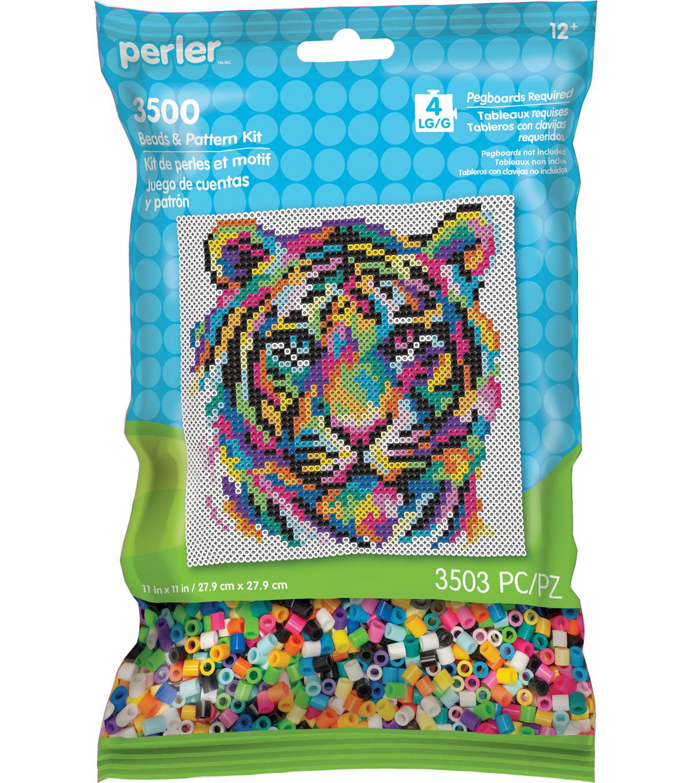 Perler Beads & Pattern Kit-Rainbow Tiger