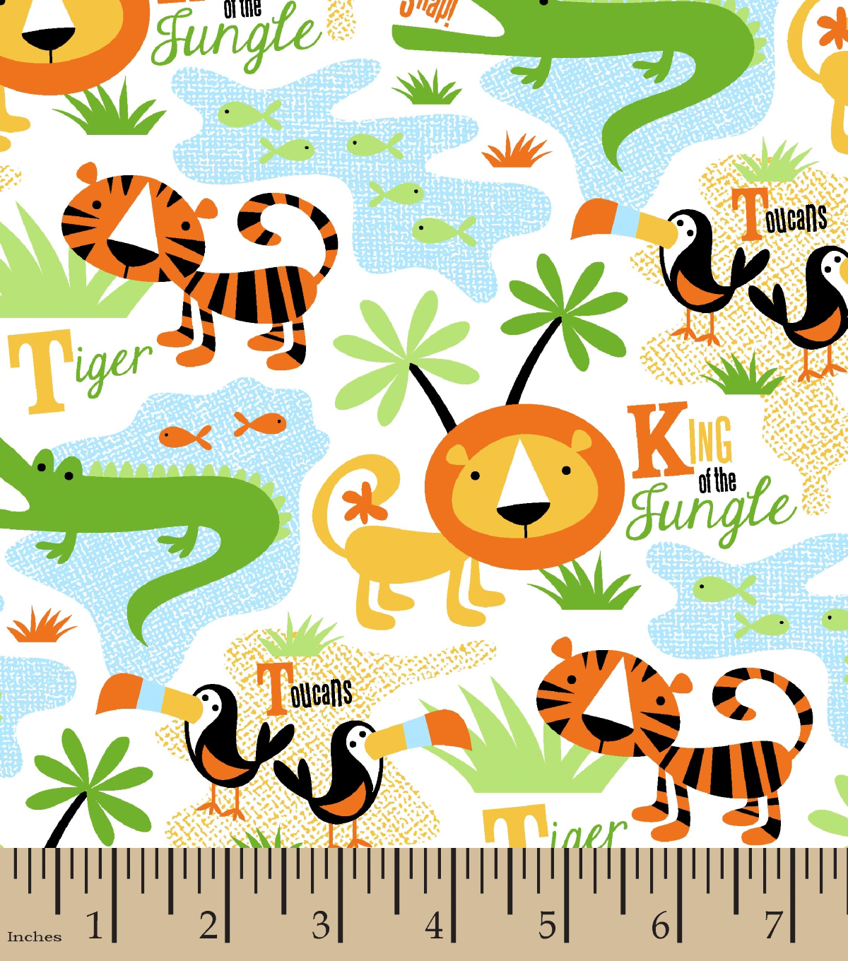 Snuggle Flannel Fabric -King of The Jungle