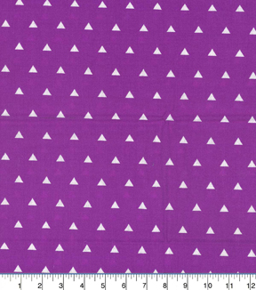 Quilters Showcase Cotton Fabric-Triangle Purple