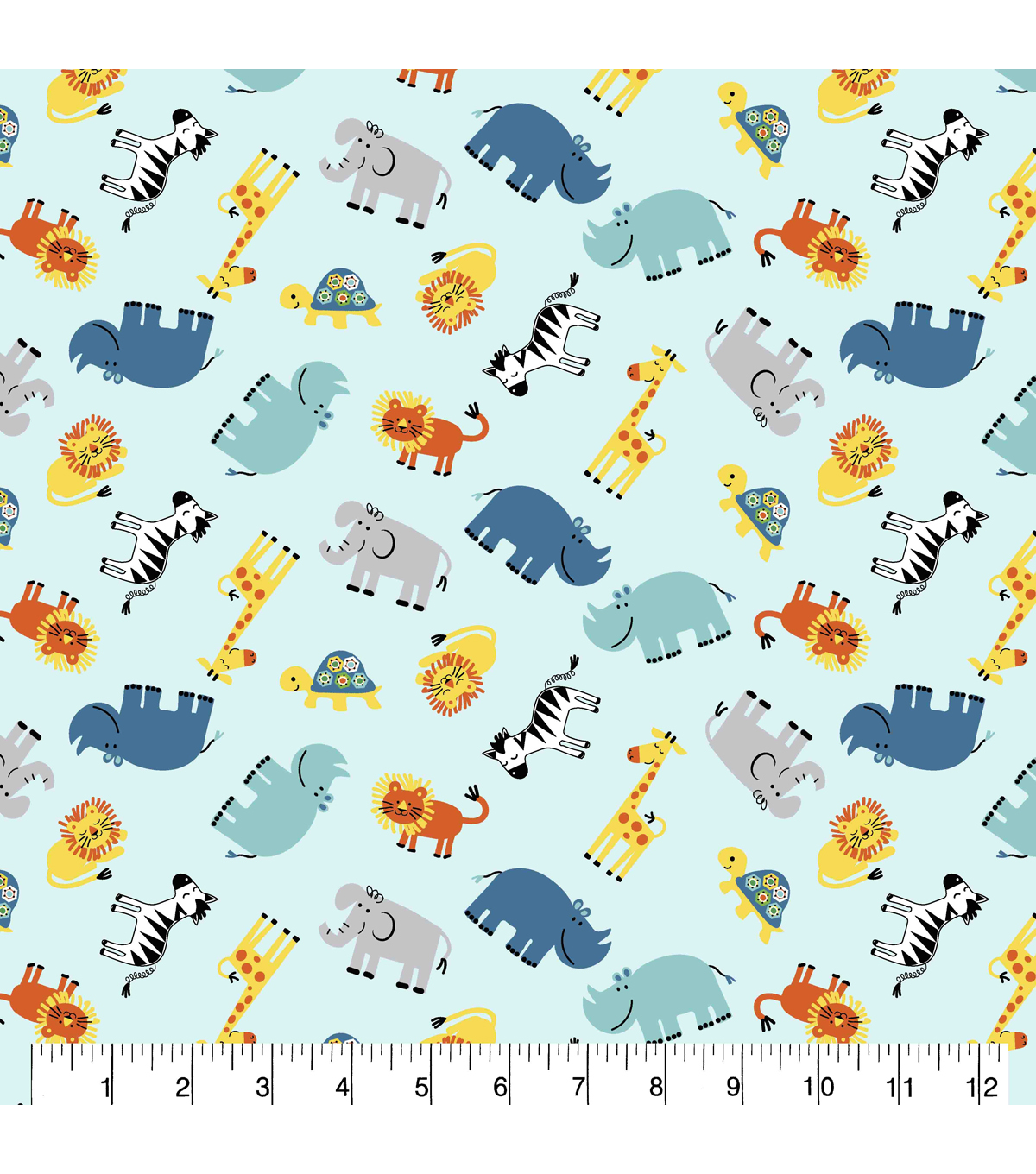 Snuggle Flannel Fabric-Visit To The Zoo