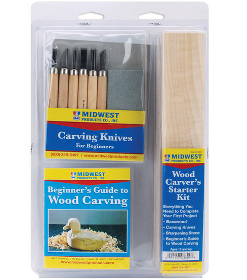 Midwest Wood Carver\u0027s Starter Kit