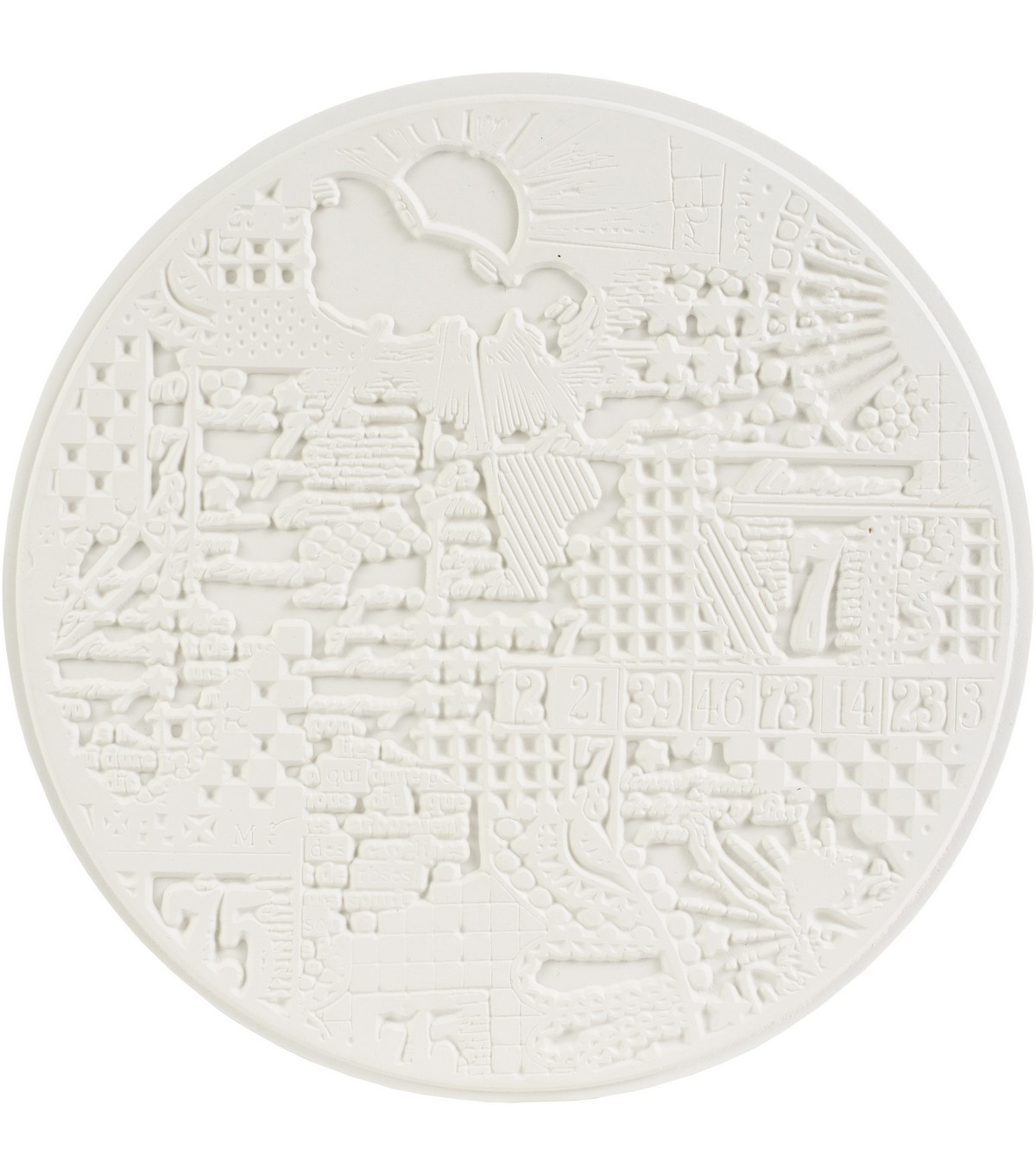 Carabelle Studio Art Printing Round Rubber Texture Plate-Big Bang