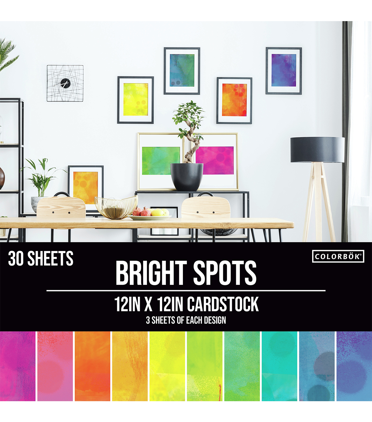 Colorbok Single-Sided Printed Cardstock 12\u0022X12\u0022-Spray Paint, 10 Designs