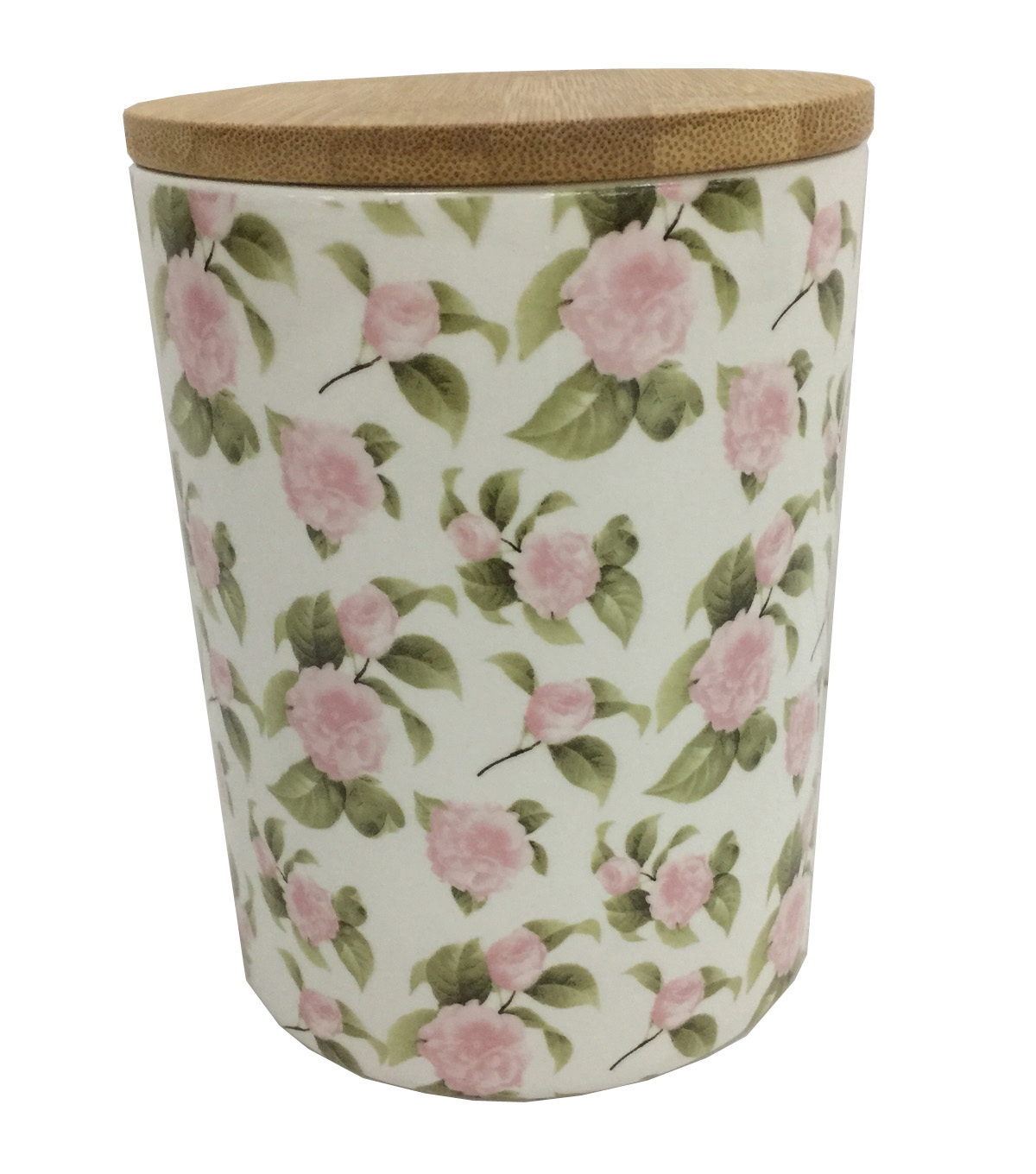 Simply Spring Large Ceramic Canister-Floral