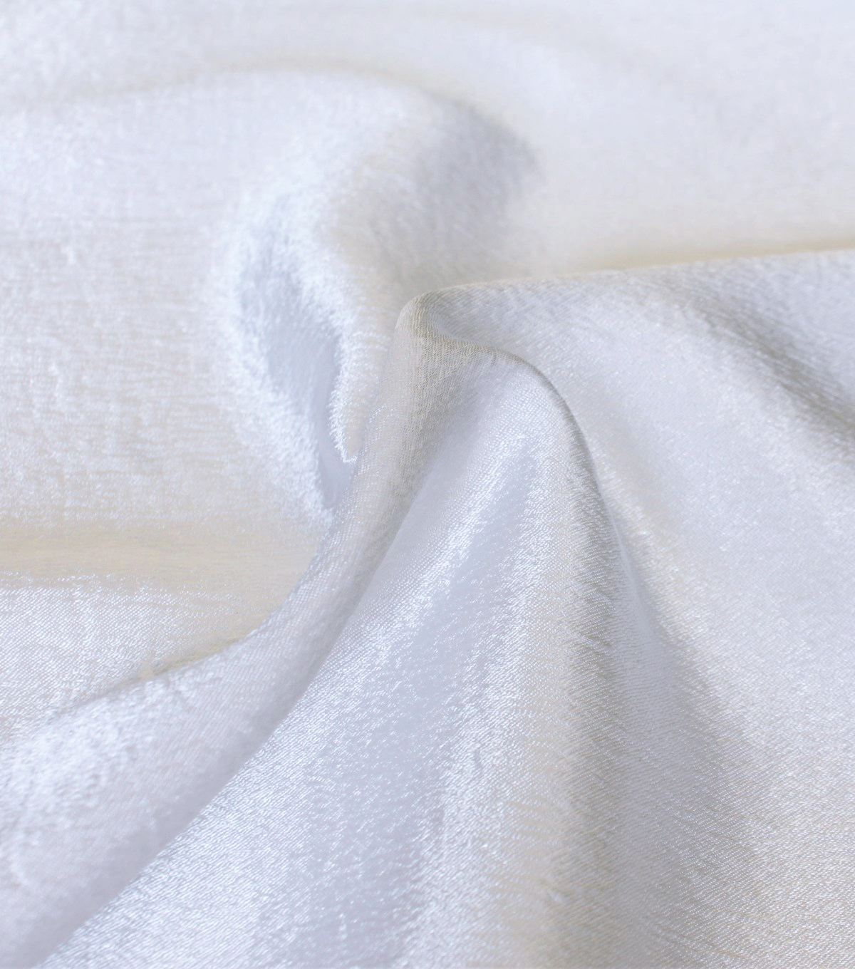 Casa Collection Crushed Satin Fabric 54\u0027\u0027-White