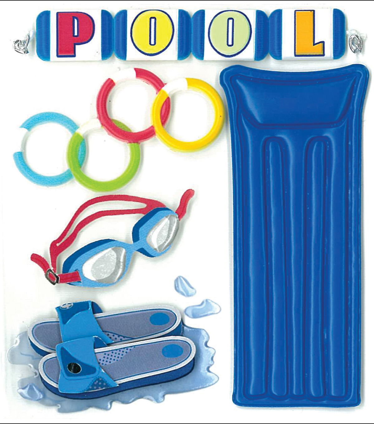 Jolee\u0027s Boutique Dimensional Stickers-At The Pool