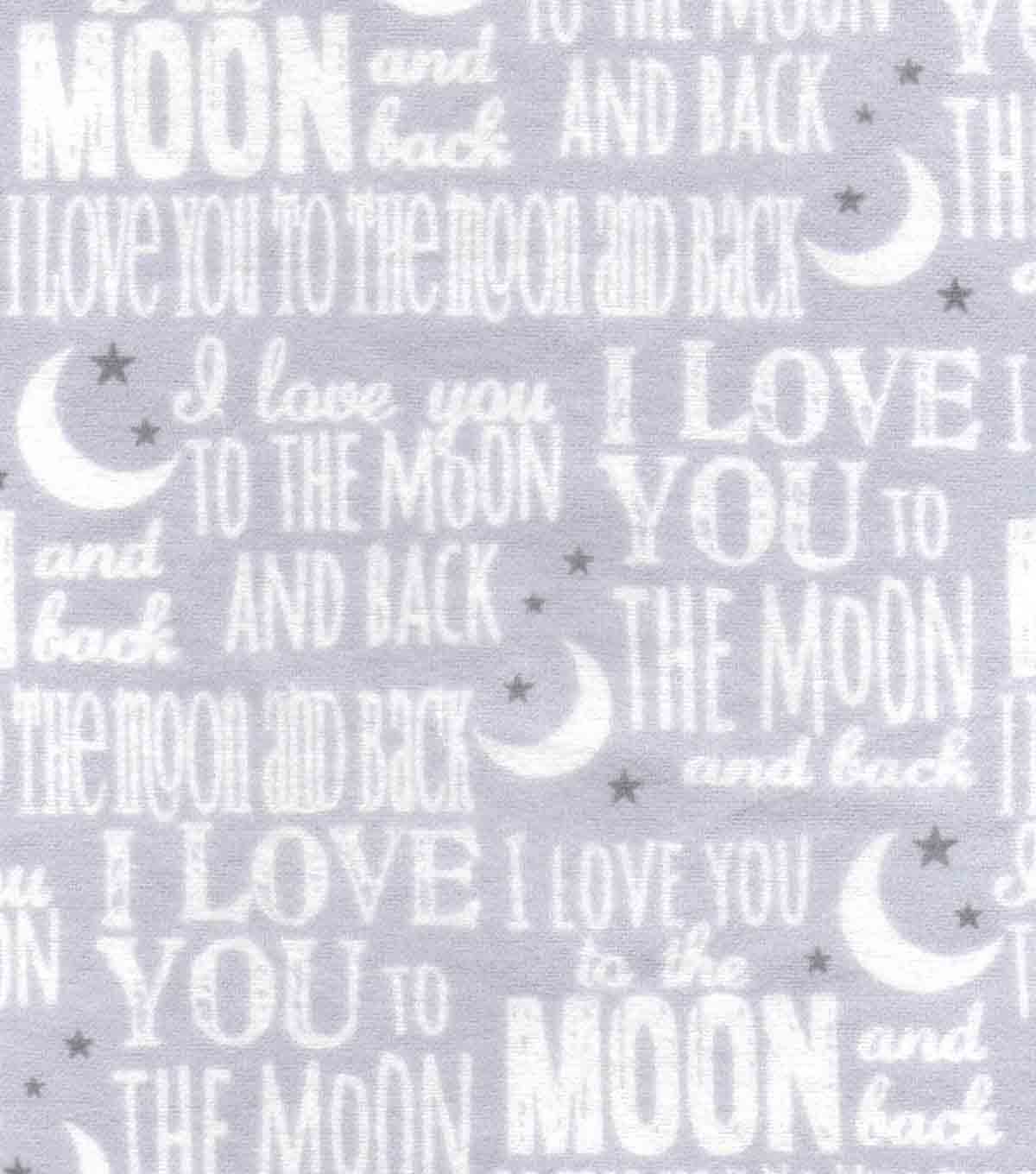 Nursery Flannel Fabric 42\u0027\u0027-Love You To The Moon