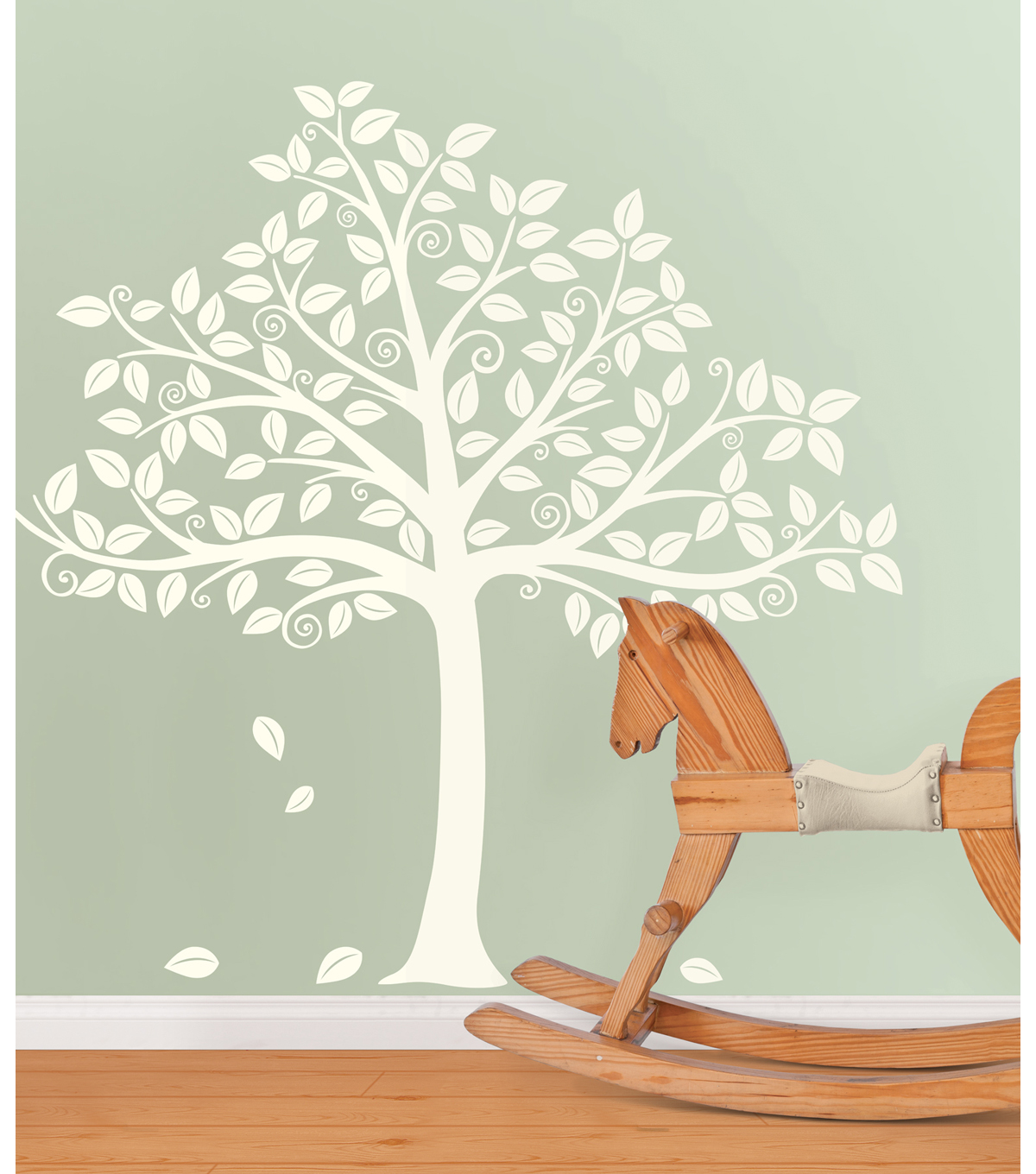 Wall Pops Silhouette Tree Wall Art Decal Kit, 129 Piece Set