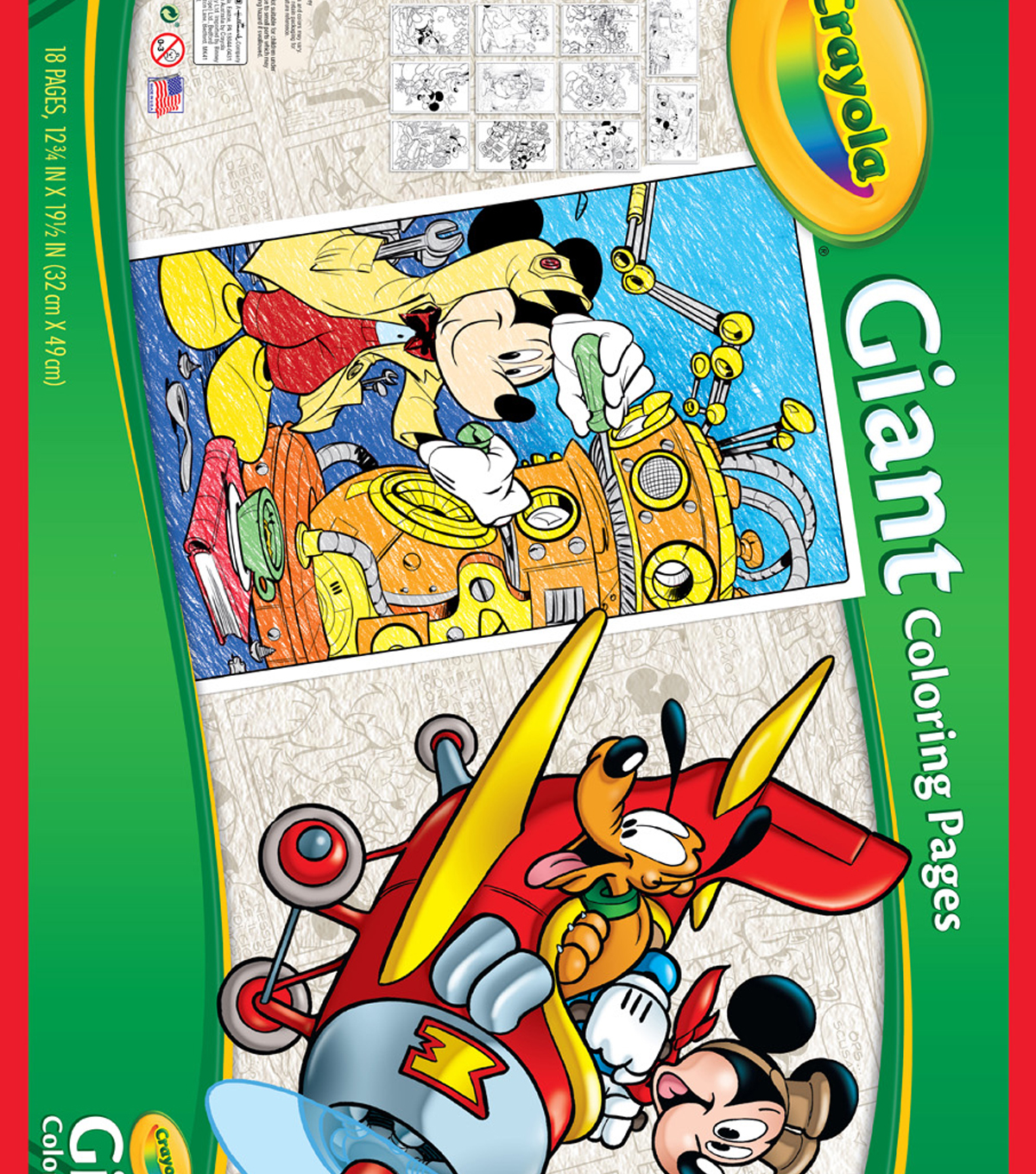 Crayola Giant Coloring Pages Mickey S 90th Joann