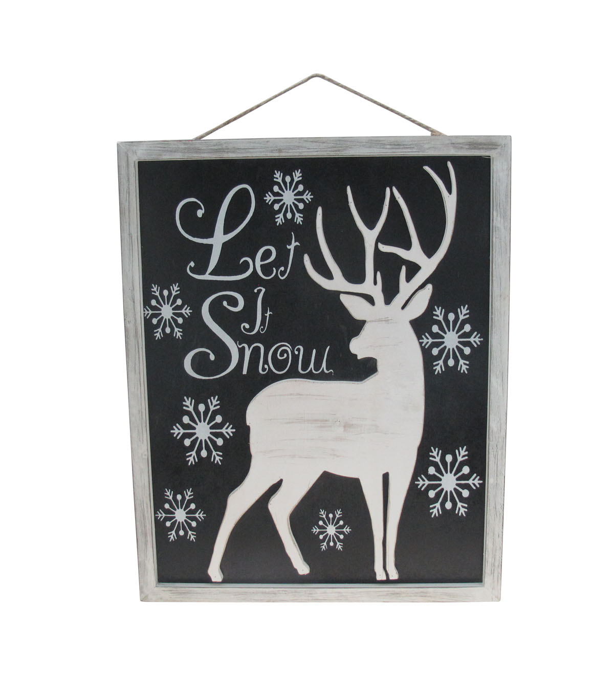 makeru0027s holiday christmas wall decor white deer on black - White Deer Christmas Decoration