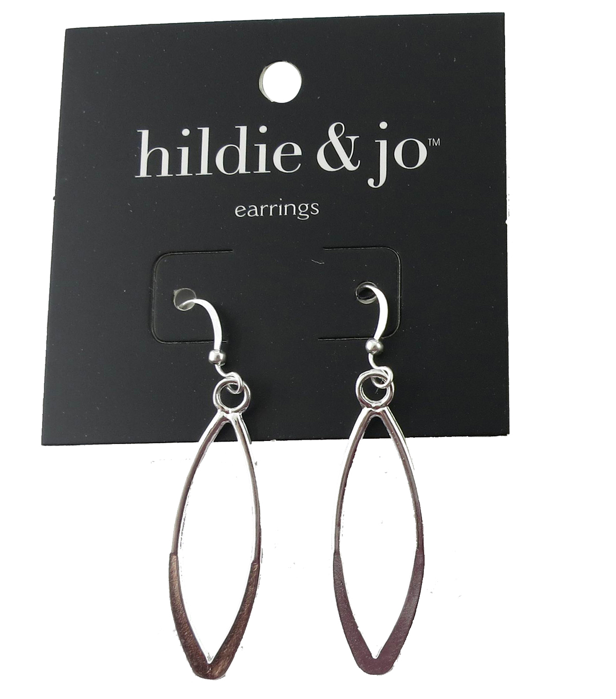 hildie & jo 1.5\u0027\u0027x0.5\u0027\u0027 Open Oval Silver Earrings