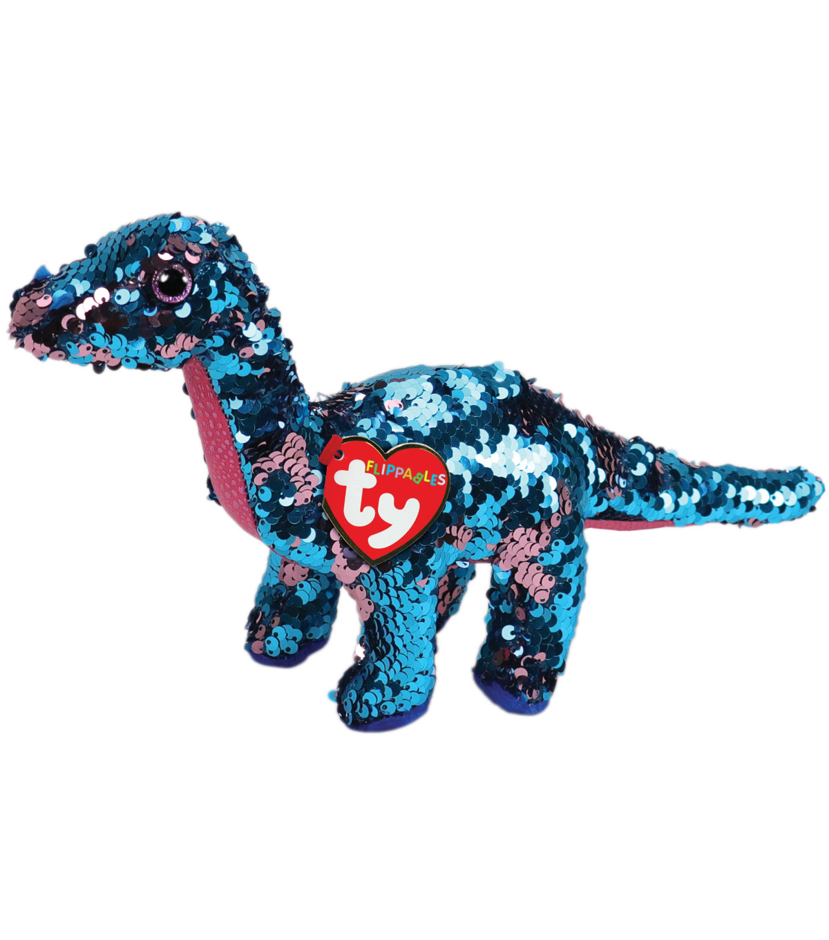Ty Inc. Flippables Regular Sequin Tremor Dinosaur