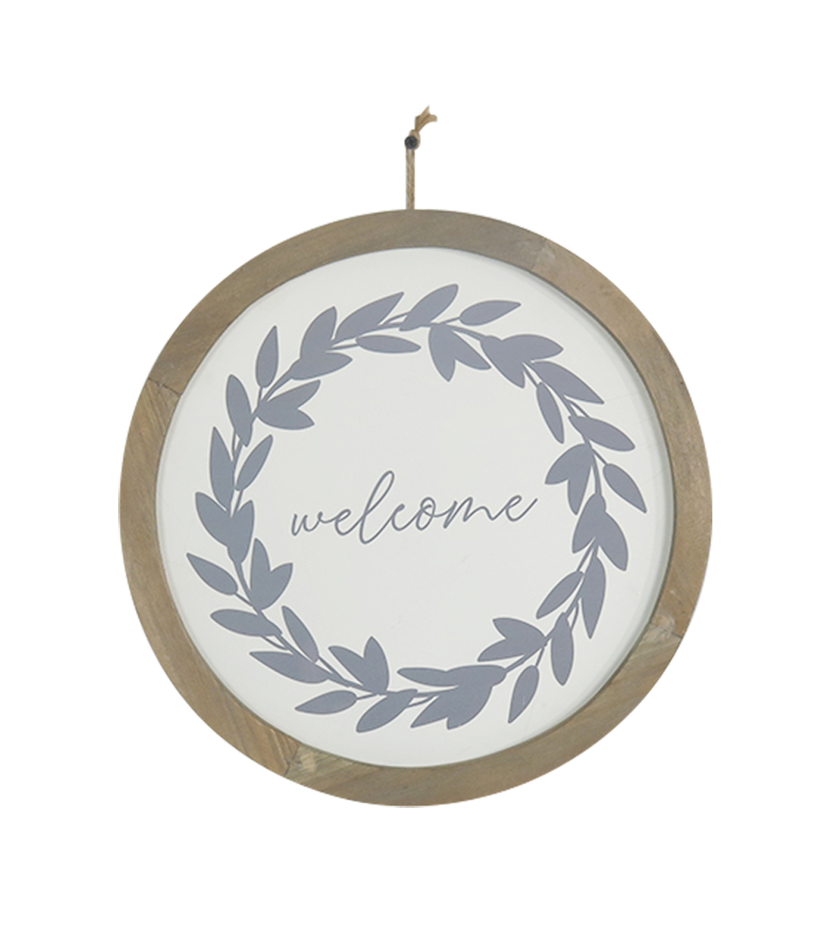 Simply Autumn Round Wood Wall Decor-Welcome