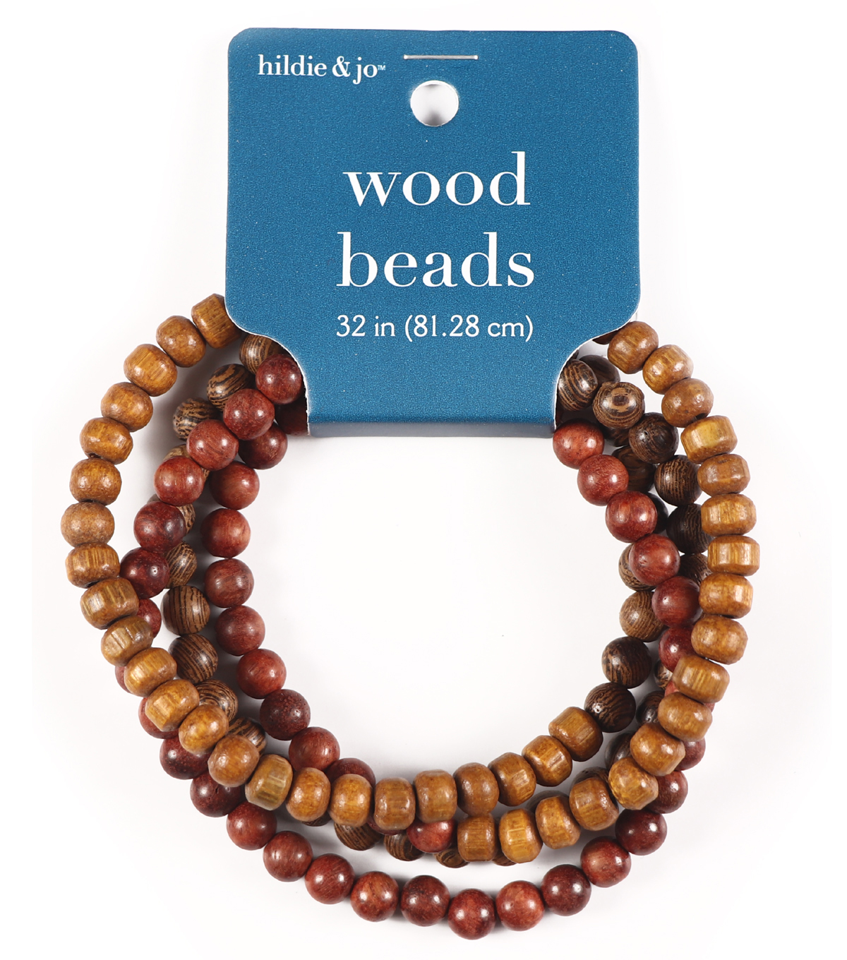 Darice Jewelry Designer String Beads-Wood (32\u0022)